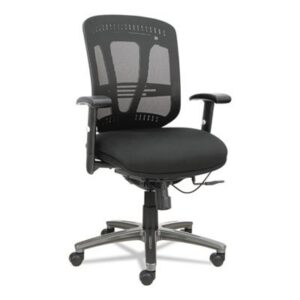 Alera Eon Series Multi-function Mid-Back Black Mesh Swivel Chair