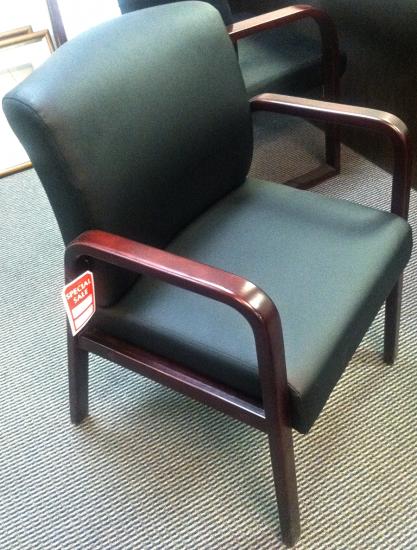 Alera Reception Lounge Series Guest Chair, Mahogany/Black