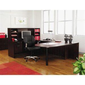 """Alera Valencia Series """"D-Top U-Desk"""" Configuration"""
