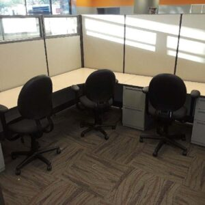 Used Haworth L Shape Cubicle Workstation