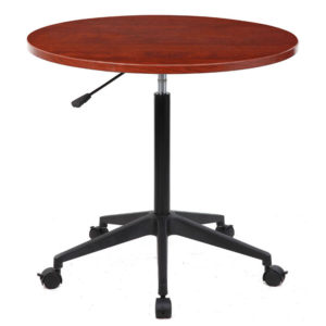 Boss Series Height Adjustable Mobile Round Table